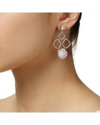 Monica Vinader - Metallic Riva Cluster Earrings - Lyst