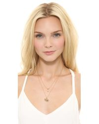 Juicy Couture - Metallic Pave Elephant Chain Necklace Gold - Lyst