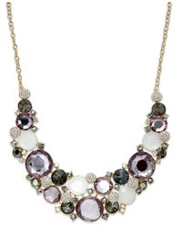 INC International Concepts | Multicolor Gold-tone Multi-stone Drama Bib Necklace | Lyst