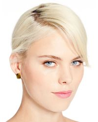 kate spade new york - Green Emerald Cut Studs - Lyst