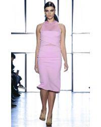 Cushnie et Ochs - Pink Neoprene Illusion Dress - Lyst