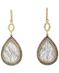 Sara Weinstock - Gray Quartz & Grey Diamond Double-drop Earrings - Lyst
