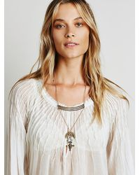 Free People | Metallic Womens Sacred Stacked Pendant | Lyst