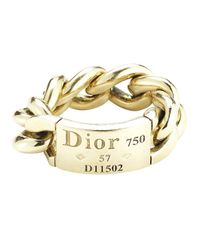 Dior - Metallic Pre-Owned: 18Ky Chain Ring - Lyst