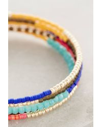 Shashi | Blue Jane Wire Wrap Bracelet | Lyst