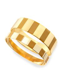 Tuleste | Enamel Step Bangles In Yellow/golden | Lyst