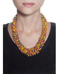 Mango - Multicolor Bead Necklace - Lyst