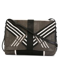 Rick Owens - Gray Geometric Panel Shoulder Bag - Lyst