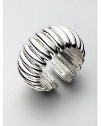 John Hardy - Metallic Sterling Silver Concave Flex Cuff Bracelet - Lyst
