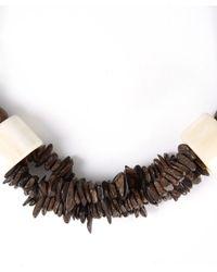 Eskandar | Brown Carved Coconut Beaded Necklace | Lyst