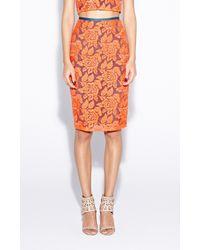 Nicole Miller - Orange Carter Flower Organza Skirt - Lyst
