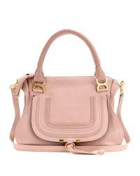 Chloé | Pink Marcie Medium Leather Shoulder Bag | Lyst