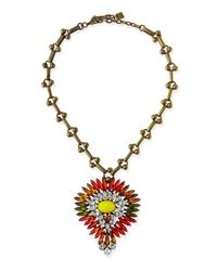 DANNIJO | Multicolor Khaleesi Crystal Necklace | Lyst