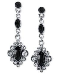 2028 | Metallic Silver-Tone Jet Black Drop Earrings | Lyst