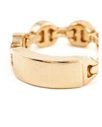 Hoorsenbuhs - Metallic Tri-link Mono Ring - Lyst