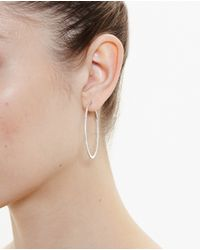 Rosa De La Cruz | Pink Medium 18k Rose Gold Hoop Earrings | Lyst