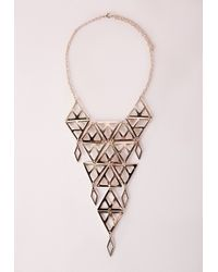 Missguided | Metallic Cutout Longline Necklace Gold | Lyst