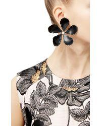 Rosie Assoulin - Black Enamel Single Flower Earring - Lyst