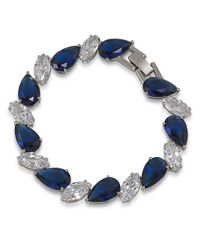 Carolee | Uptown Recolor Blue Linked Stone Bracelet | Lyst