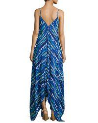 Karina Grimaldi   Blue Irene Sleeveless Geometric-print Dress   Lyst