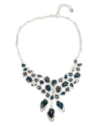 Robert Lee Morris | Blue Fragments Faceted Stone Statement Necklace | Lyst