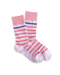 J.Crew | Purple Mixed-Stripe Socks | Lyst