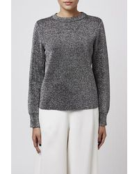 TOPSHOP | Metallic Crew Neck Sweater By Boutique | Lyst