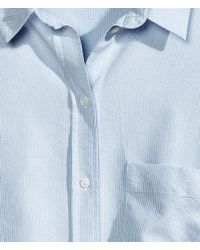 H&M - Blue Oversized Shirt - Lyst