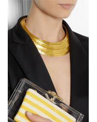 Herve Van Der Straeten - Metallic Textured Goldplated Necklace - Lyst