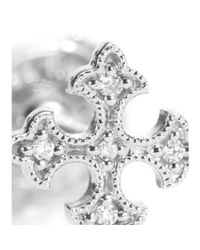 Stone - Metallic Passion Button 18kt White Gold And Diamonds Single Earring - Lyst