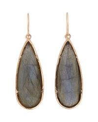 Irene Neuwirth | Green Elongated Teardrop Earrings | Lyst