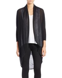 Eileen Fisher | Black Cocoon Cardigan | Lyst