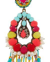 Ranjana Khan - Blue Turquoise Fringe Earrings - Lyst