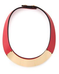 Marni | Red Gold Detail Necklace | Lyst