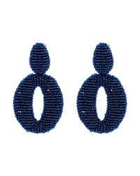 Oscar de la Renta - Blue O C Earrings - Lyst