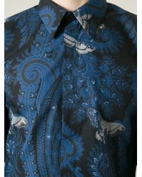 Givenchy - Blue Paisley Print Shirt for Men - Lyst