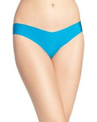 Commando | Blue Microfiber Thong | Lyst