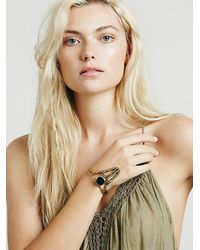 Free People - Metallic Break A Stone Womens Onyx Witch Cuff - Lyst
