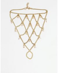 ASOS | Metallic Beach Bead Foot Chain | Lyst