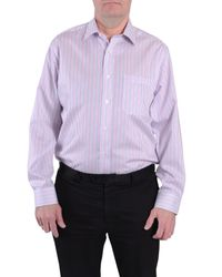 Double Two - Pink Stripe Classic Fit Classic Collar Formal Shirt for Men - Lyst