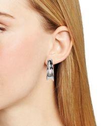 Ralph Lauren - Metallic Lauren Concave Hoop Clip On Earrings - Lyst