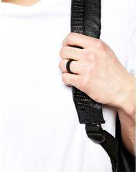 ASOS - Ring In Matte Black Finish for Men - Lyst