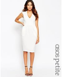 ASOS | White Sleeveless Textured Wiggle Dress | Lyst