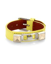 Proenza Schouler | Yellow Ps11 Small Leather Bracelet | Lyst