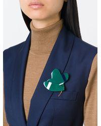 Marni | Green Flower Brooch | Lyst