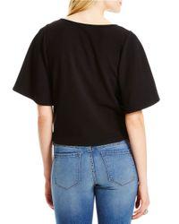 Jessica Simpson | Black Embellished Crop Top | Lyst