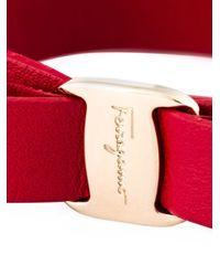 Ferragamo | Red 'vara' Bow Bracelet | Lyst