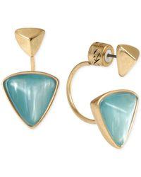 Kenneth Cole - Blue New York Gold-Tone Geometric Bead Drop Earrings - Lyst