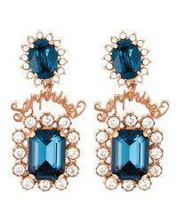 Mawi - Blue 'sapphire Slogan' Earrings - Lyst