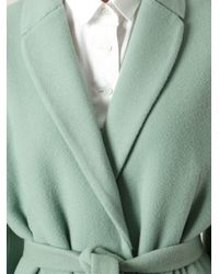 Rochas | Green Belted Overcoat | Lyst